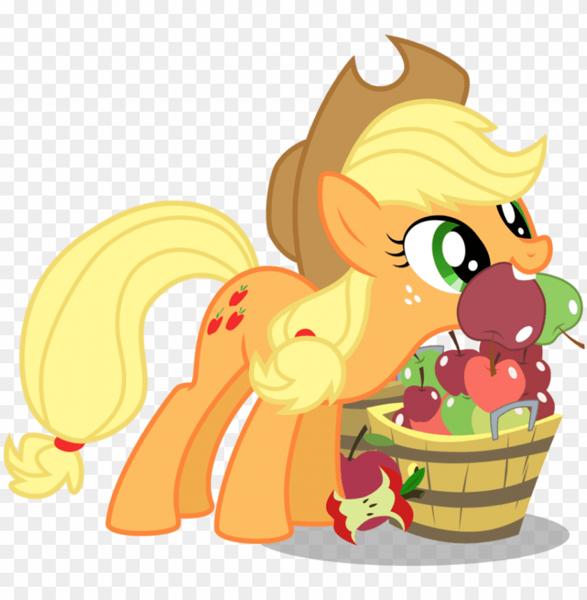 Applejack Mouth Filled With Apples My Little Pony Applejack Apples Png Image With Transparent Background Toppng
