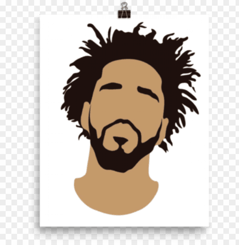j cole face silhouette png image with