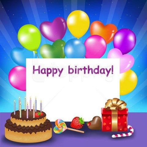 Happy Birthdaywith Cake And Balloons Background Best Stock Photos Toppng