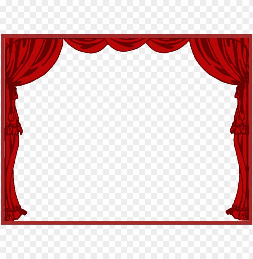transparent curtain drape theatre png