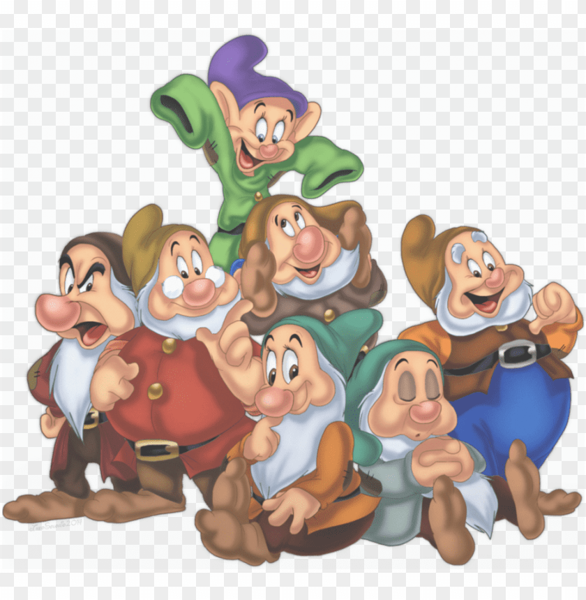 Snow White 7 Dwarfs Png Image With Transparent Background Toppng