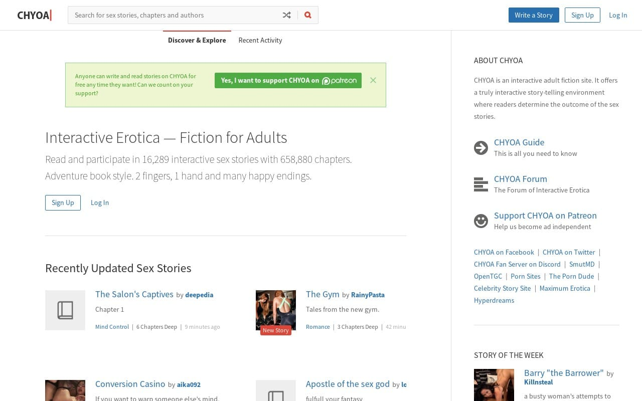 Chyoa - top Sex Stories Sites