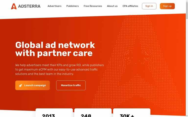 Adsterra - top Adult AD Networks