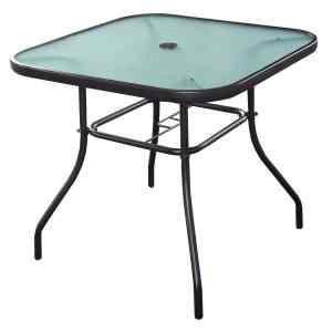 Giantex 32 12 Patio Square Bar Dining Table Glass Deck Outdoor Furniture Garden Pool