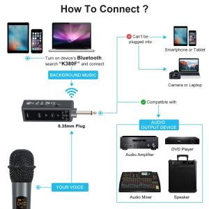 TONOR UHF Wireless Microphone Handheld Mic with Bluetooth Receiver 14 Output for ConferenceWeddingsChurchStagePartyKaraoke