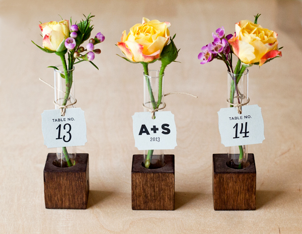 DIY: Bud Vase Favors & Escort Cards