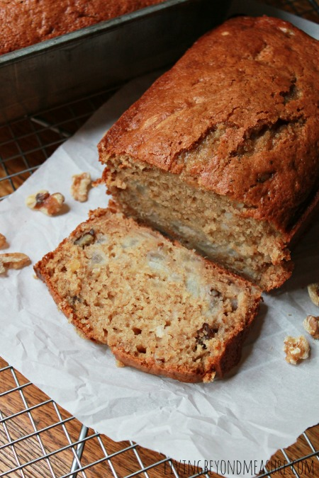 Fresh Pear Walnut Bread