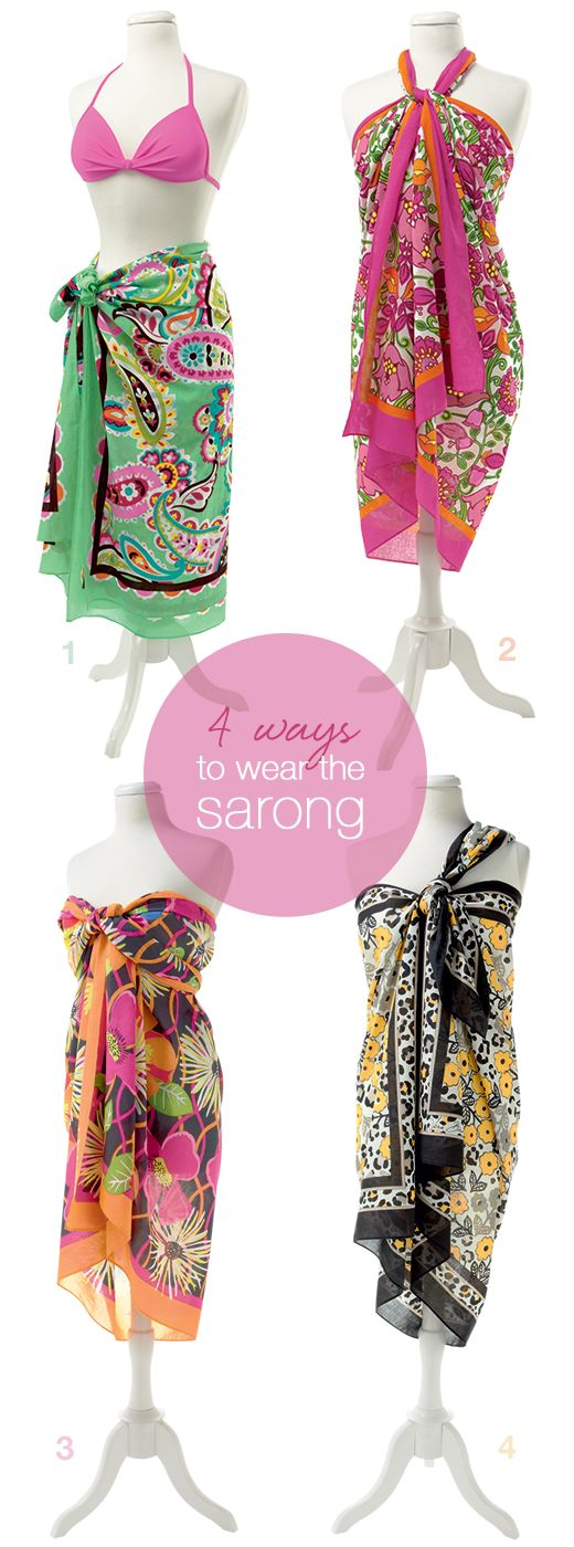 4 ways to wear the Sarong