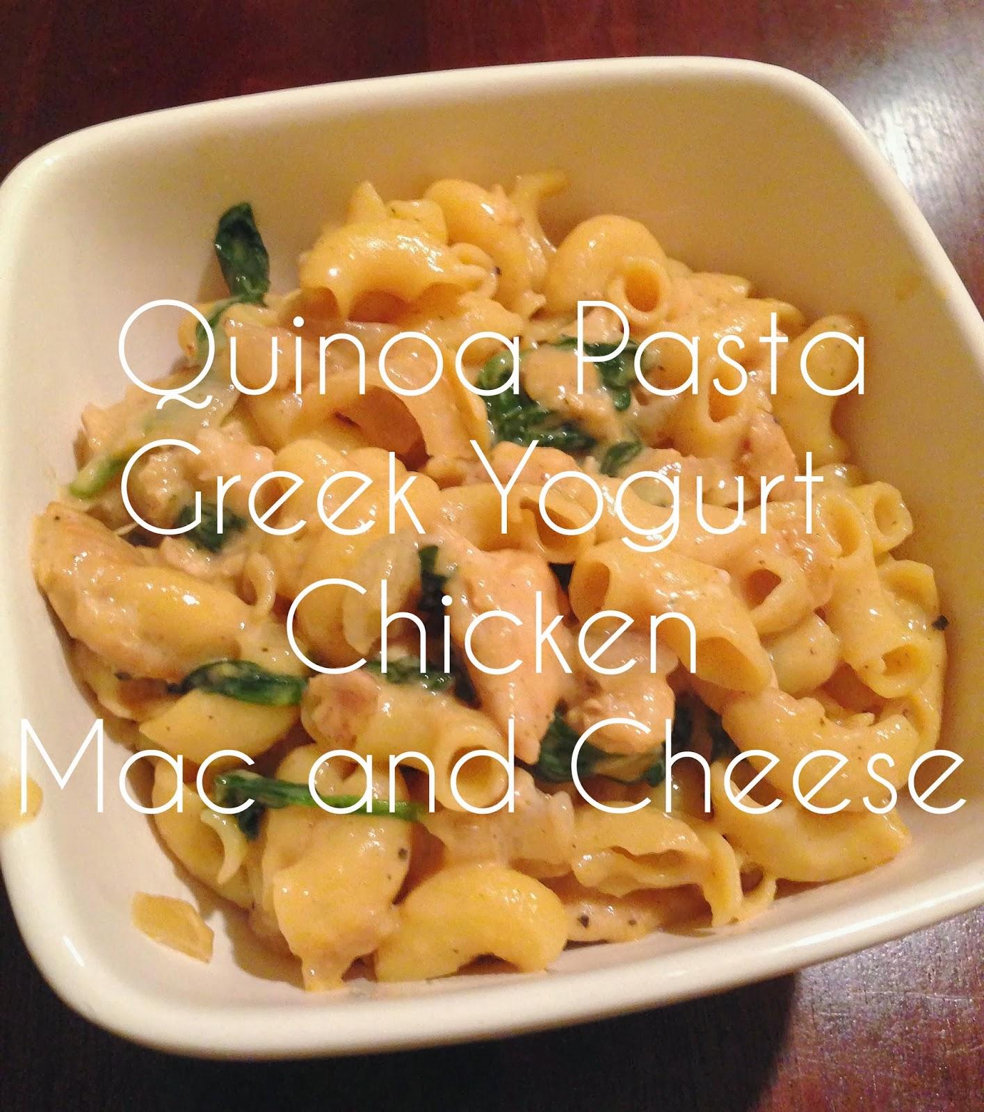 Quinoa Pasta Greek Yogurt Chicken Mac and Cheese