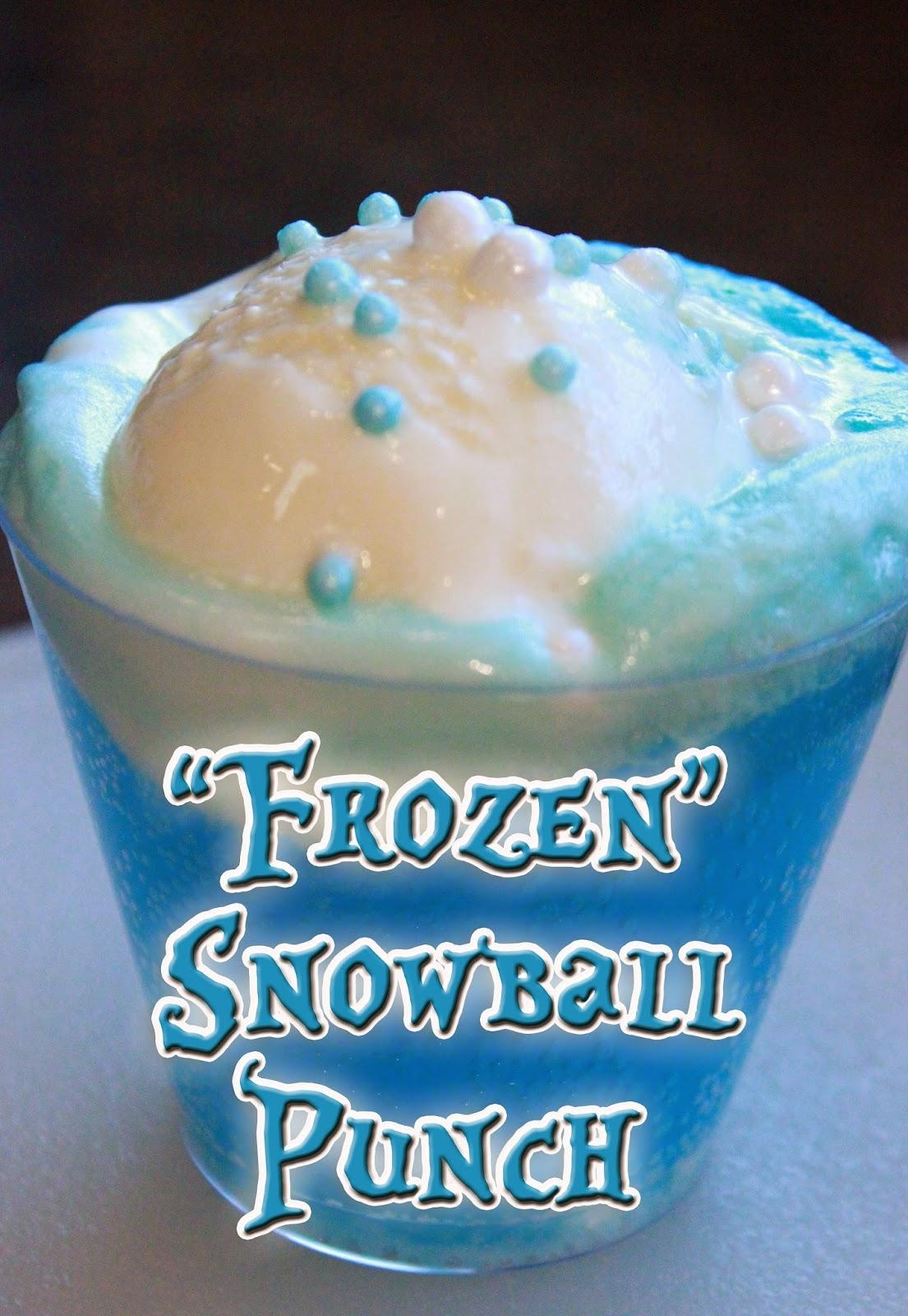 """Frozen"" Inspired Snowball Punch Recipe"