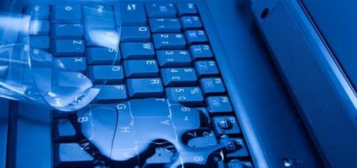 zalanie laptopa
