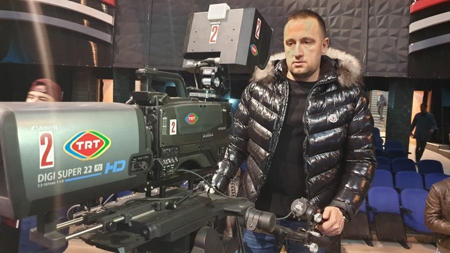 Алем Ровчанин на едукацији у Tурској националној телевизији