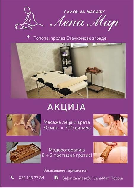 """Салон за масажу """"ЛенаМар"""" слави свој други рођендан и награђује поклон ваучерима за масажу"""