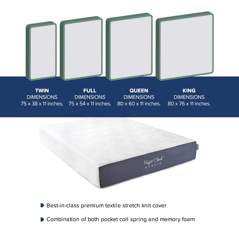 Hybrid Memory Foam Mattress Innerspring topratedhomeproducts info Size