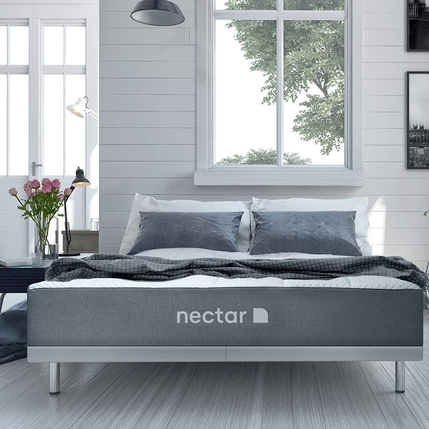 Nectar Full Mattress + 2 Free Pillows - Gel Memory Foam