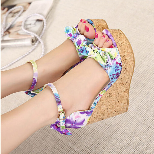 blue summer sandals