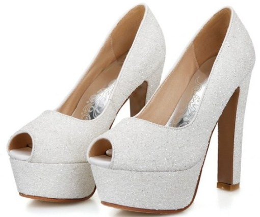 sparkly open toe petite size 3 heels