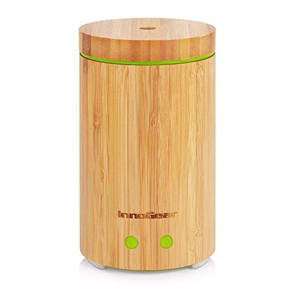 innogear real bamboo essential oil diffuser ultrasonic aromatherapy diffusers