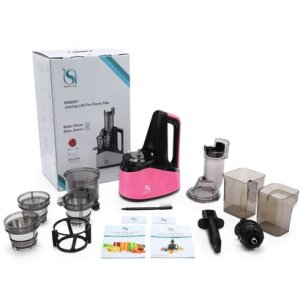 """natalie styx wide chute masticating slow juicer 3"""" inches wide chute 240w ac motor"""