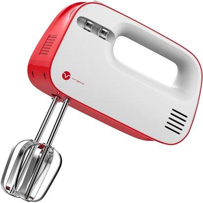 vremi electric hand mixer 3 speed with built-in storage case 150 watt power egg beater handheld kitchen mixer