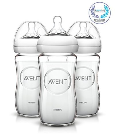 8-ounce philips avent natural bpa free borosilicate glass baby bottles pack of 3