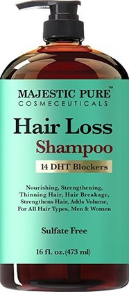 majestic pure hair loss shampoo for men and women with 14 DHT blockers