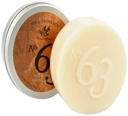 pre de provence aromatic, warm and spicy in nature no. 63 shave soap for men