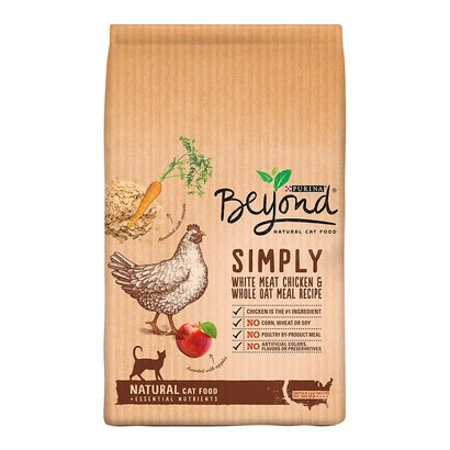 purina beyond natural cat food simply white meat chicken and whole oat meal recipe 13 lb. bag