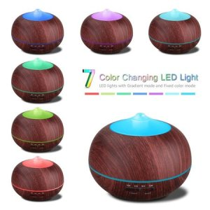 tonerone wood grain 400ml essential oil diffuser cool mist aromatherapy whisper-quiet operation 7 color led light