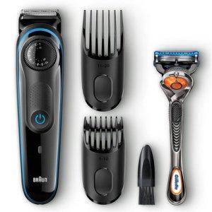 braun bt3040 beard trimmer for men with a free gillette fusion proglide razor