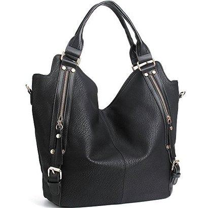 joyson pu leather hobo shoulder bag tote women's large capacity handbag