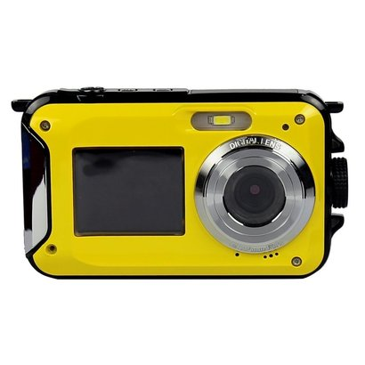 kingear kg0008 double screens waterproof digital camera 2.7-inch front lcd with 2.7inch camera