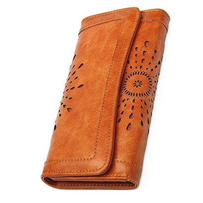 ourbag women's lady pu leather long wallet purse credit card clutch holder wallet