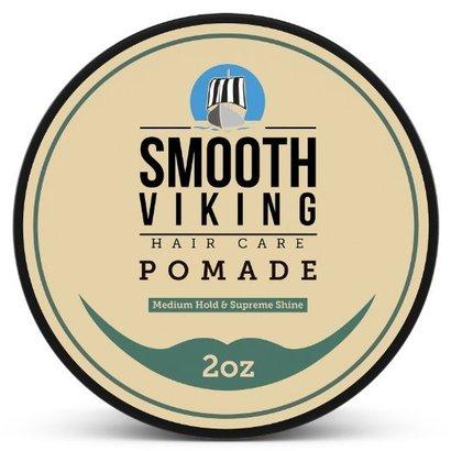 smooth viking hair care pomade-medium hold and supreme shine hair styling formula for men 2 oz