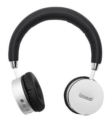 diskin dh3 bluetooth 4.0 wireless on-ear stereo headphones with microphone and 500 mAh battery