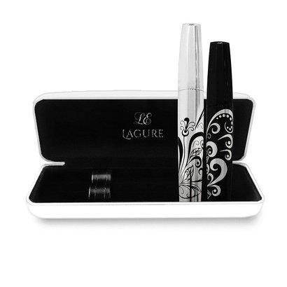 lagure premium 3d fiber lash mascara transplanting gel and natural fiber with sturdy case