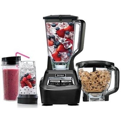 ninja mega kitchen system bl770 with pitcher, processor bowl, and nutri ninja cups