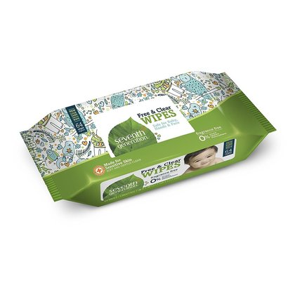 seventh generation thick, strong, free and clear baby wipes