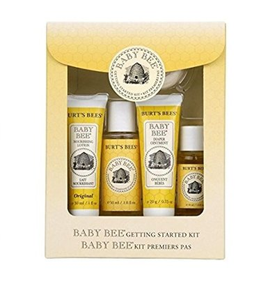 burt's bees baby getting started gift set includes 5 trial size natural baby skin care products