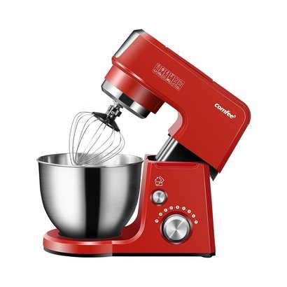 comfee 2.6qt 7-in-1 multi function stand mixer with 7 speeds plus pulse feature and brushed stainless steel bowl