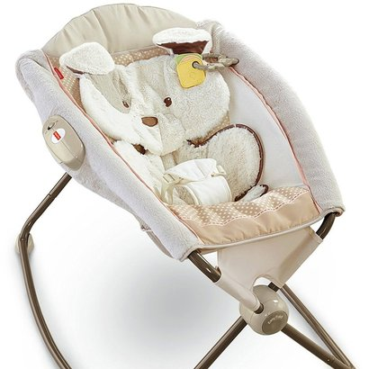 fisher-price my little snugapuppy deluxe newborn rock'n play sleeper with calming vibrations