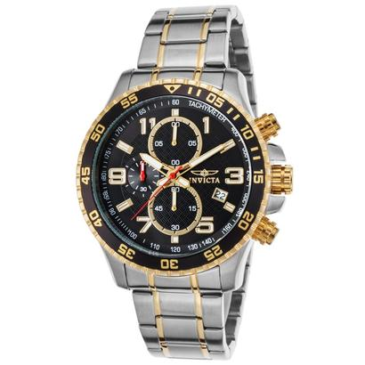 invicta men's specialty 14876 quartz chronograph watch of stainless steel in silver tone and gold tone