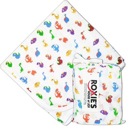 roxie's everything natural muslin baby blanket and gift bag
