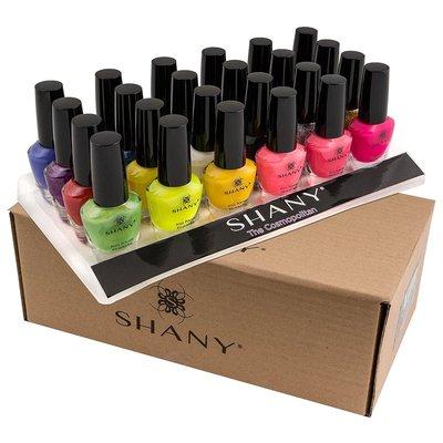 shany cosmopolitan nail polish set with 24 shades of extraordinary varnish