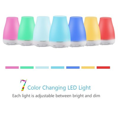 urpower 2nd generation aroma essential oil diffuser cool mist humidifier with 7 color changing led light and adjustable mist mode