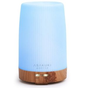 asakuki 100ml premium essential oil diffuser ultrasonic aromatherapy fragrant oil vaporizer with 7 led lights, automatic shut off and mist mode