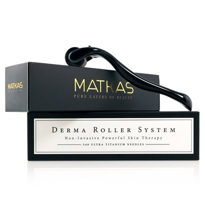 matkas derma roller system non-invasive powerful skin therapy 540 ultra titanium microneedes includes storage case