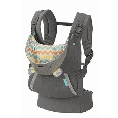 infantino cuddle up ergonomic hoodie carrier with adjustable shoulder straps and removable teddy bear hood for infants of 12 to 40 lbs