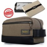 kalooi waterproof toiletry bag for men with two zippers includes bonus natural lava pumice stone in premium gift box