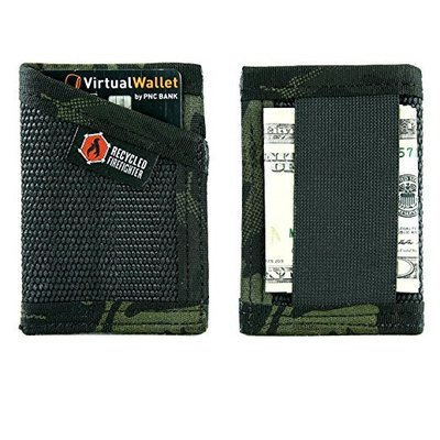 recycled firefighter usa made credit card wallet made of decommissioned fire hose